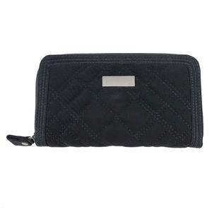 Vera Bradley Black Quilted Zip Accordion Wallet